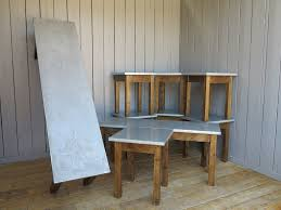 Zinc Top Bar Table Bespoke Kitchen Worktops Metal Worktops Ukaa