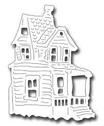 halloween dies frantic stamper precision die large haunted house