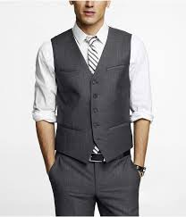 light gray vested suit medium dark gray suit pants and vest but with light blue dark gray