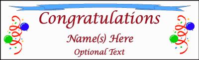 congratulation banner congratulation banners fast cheap 1daybanner