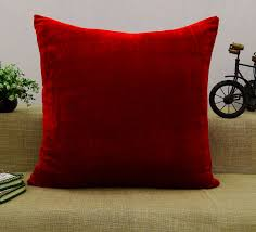 Indian Home Decorations Indian Home Decor Throw Pillow Solid Pattern Decorative Velvet