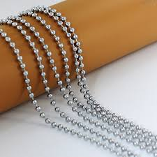 ball bead necklace images High quality silver stainless steel 4mm 60cm ball beads chain jpg