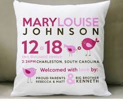 personalized gift for baby personalized baby pillows baby keepsake gifts