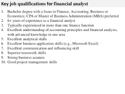 Financial Analyst Job Description Resume by Financial Analyst Job Description Senior Financial Analyst Resume