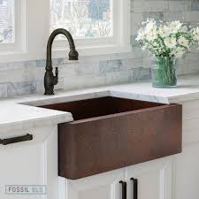 33 inch farmhouse kitchen sink fsw1100 luxury 33 inch pure hammered copper farmhouse kitchen sink