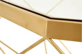 brushed gold brushed gold origami side table shop accent tables dear keaton