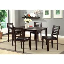 furniture of america ladorra 5 piece ladder back dining table set