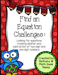 addition and subtraction equation search fun math review