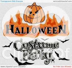 png no background halloween logo clipart of a jackolantern with halloween costume party text and