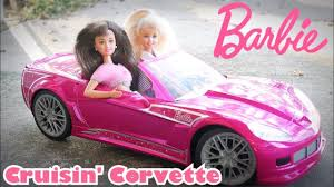 barbie corvette barbie cruisin u0027 corvette r c car skipper goes for a ride youtube