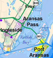 fishing maps and spots for areas around redfish bay and port aransas