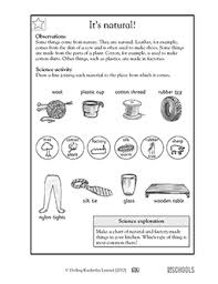 1st grade 2nd grade kindergarten science worksheets comes from