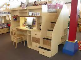 Kids Bunk Beds With Desk And Stairs Wonderful Kids Bunk Beds With Desk Underneath 27 About Remodel