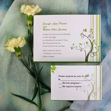 simple green tree wedding invitations ewi021 as low as 0 94