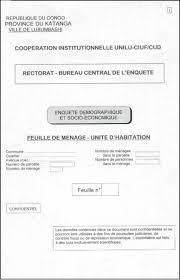 bureau enquete enquête socio économique des ménages à lubumbashi 2002