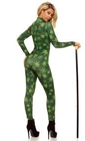 Marijuana Halloween Costumes Marijuana Catsuit U0026 Dollar Sign Necklace