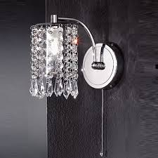 crystal candle sconces modern wall sconce lights india chrome