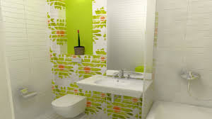 teenage bathroom ideas pin up bathroom decor white green colors ceramics wall red