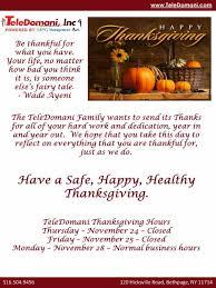 happy thanksgiving message teledomani