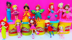 disney princess little kingdom playdoh dress up dohvinci elsa