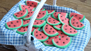 how to make watermelon cookies youtube