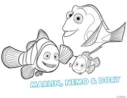 free printable finding dory coloring page for kidsfree printable