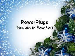 powerpoint template a christmas tree with lots of blue and silver