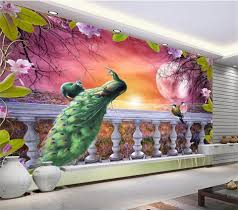3d room wallpaper custom mural non woven photo peacock beautiful