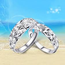 rings jewelry love images Trendy wedding rings for women men 925 sterling silver ring set jpg