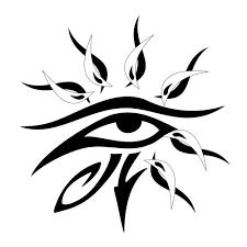 eye of ra sun want tatting and arm