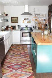 kitchen style all white farmhouse kitchen design colorful zizzag