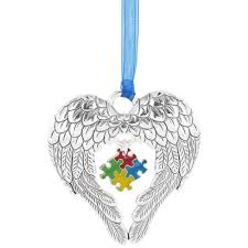 wings of an puzzle ornament the autism site
