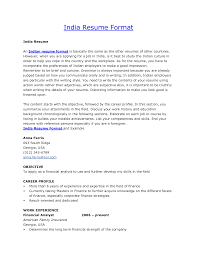 Sample Resume India Cover Letter Resume Format For Diploma Freshers Resume Format For