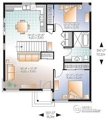 plan plain pied 2 chambres plan de rez de chaussée bungalow plain pied économique moderne 2