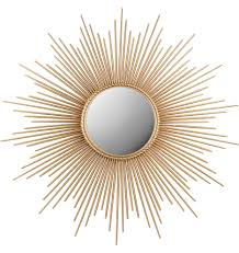 Target Wall Mirrors by Bedroom Art Deco Style Gilt Wood Sunburst Mirror With Twisted