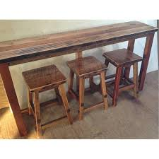 Sofa Table With Stools Reclaimed Barn Wood Breakfast Bar With 3 Stools