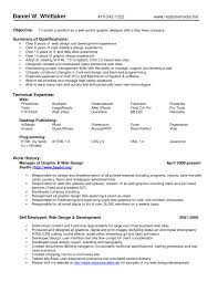 Experience Web Designer Resume Sample by Endearing Performing Arts Resume Samples With Additional