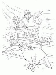 kids under 7 frozen coloring pages