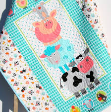 girls horse themed bedding farm quilt barnyard animals bedding pig horse blanket boy or n