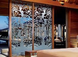 decorative sliding glass doors