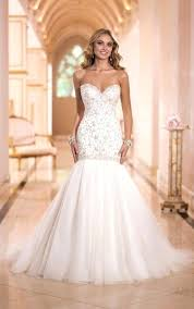 trumpet wedding dresses with long train canada plus size dress