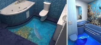 Bathroom Floor Pennies 3d Floors Turn Your Bathroom Into An Ocean Bored Panda