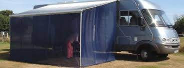 Roll Out Awning For Campervan Wind Blockers Turn Your Wind Out Canopy Into An Awning Caravan