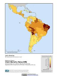 Latin America Maps by Maps Global Subnational Infant Mortality Rates V1 Sedac