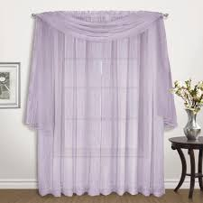 Crushed Sheer Voile Curtains by Venice Crushed Voile Panel Pair And Scarf United Curtain