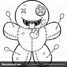 voodoo doll clipart 1170573 illustration by cory thoman
