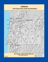 Oregon Forest Fires Map by Maps Oregon Fire Weather Zone Boundaries