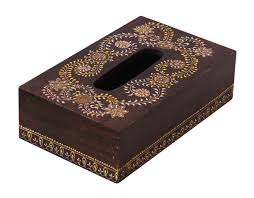 wholesale wooden tissue box cover holder hand carved 10 inch large