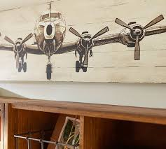 small planked airplane panels pottery barn