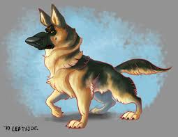 german shepherd animal character design animal characters